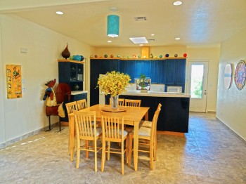 Dining area is situated perfectly next to the kitchen