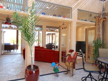 Opening the doors allows for a HUGE area to entertain or relax and enjoy the cool breezes