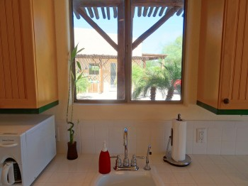 Beautiful views while you wash dishes in your kitchenette!