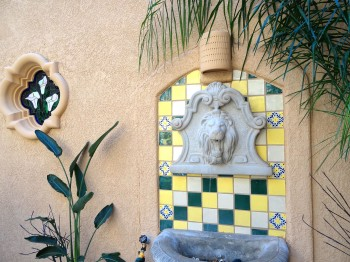 Mexican tile fountain sounds amazing!