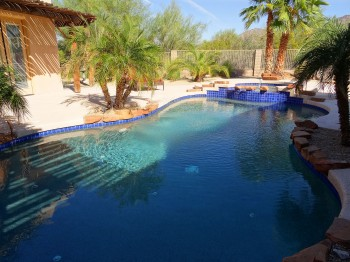 The pool is partially shaded in the afternoons - perfect for a nice dip!