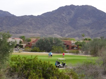 Sit and watch the golfers at the adjacent golf course